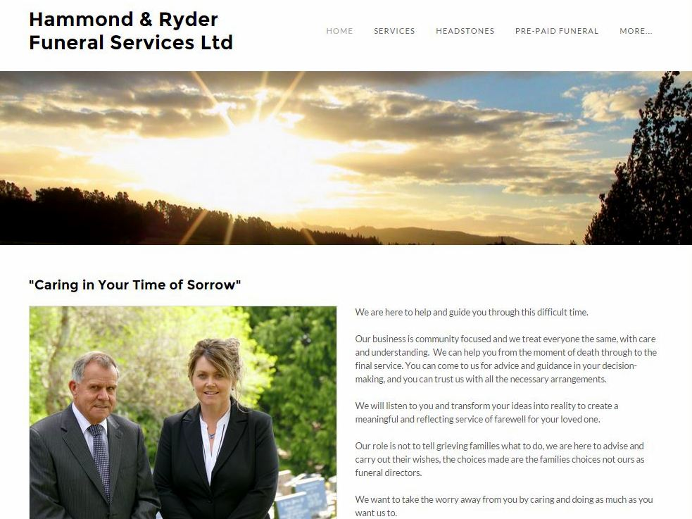 Hammond Ryder Funerals Website Image