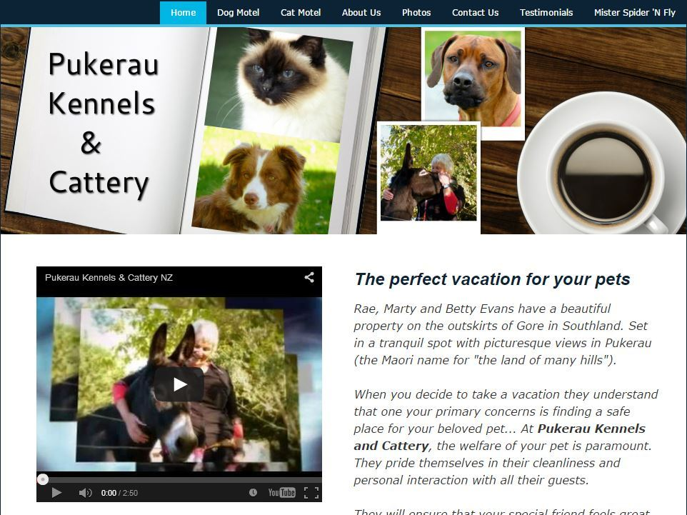 Pukerau Kennels Website Image Gore NZ