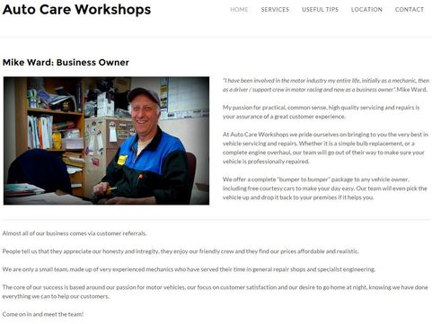 Autocare Workshops Dunedin Mechanic Website Image
