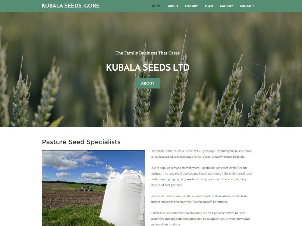 Kubala Seeds Website Image Gore