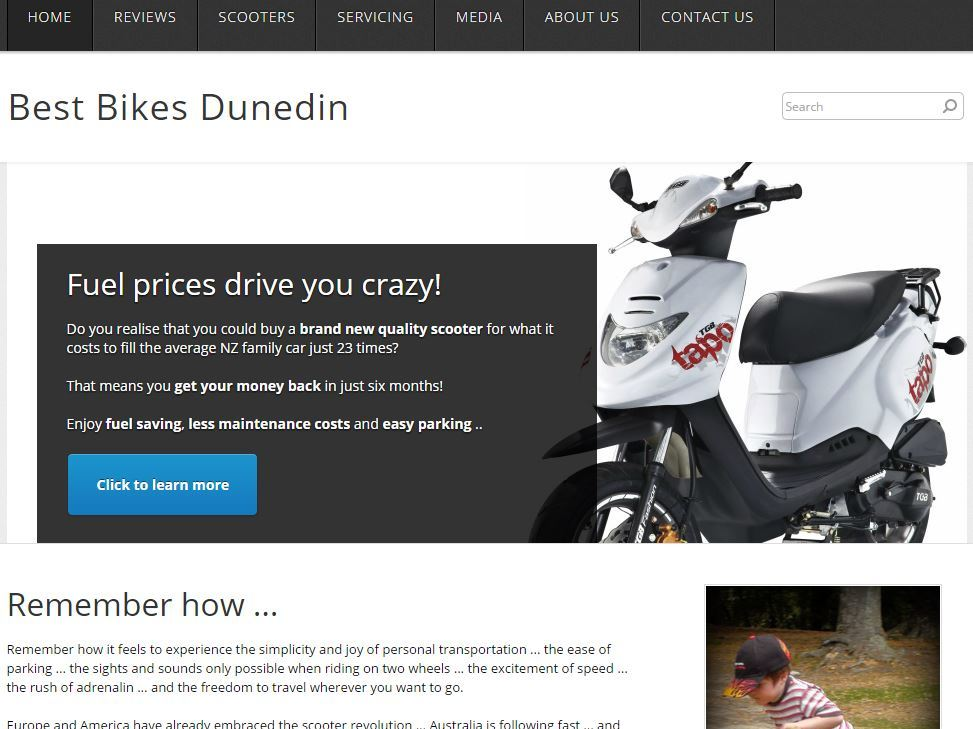 Best Motor Scooters NZ Website Image